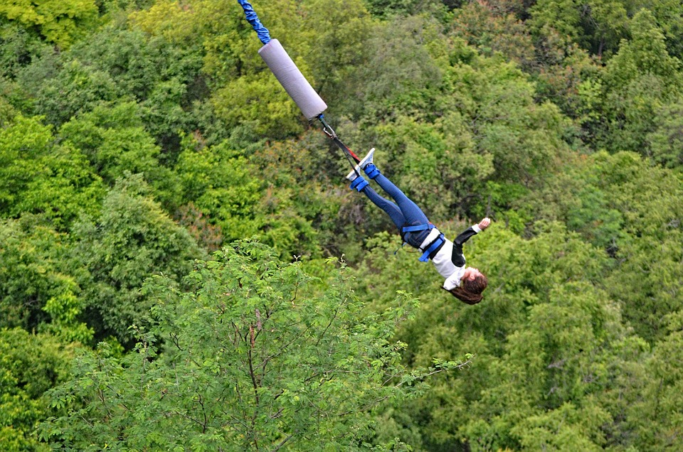 free photo bungee jump landscape nature free image