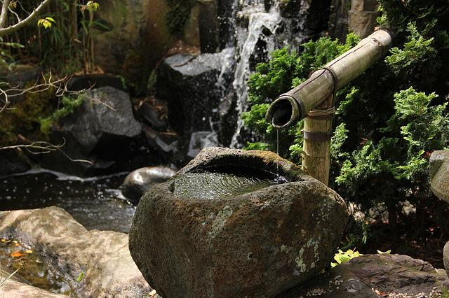 Free Photo Japanese Garden Water Feature Free Image On