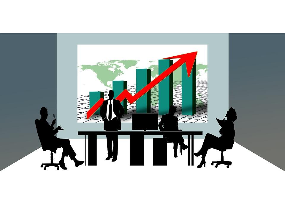 Ilustraci n gratis econom a cooperaci n siluetas for Direccion de la oficina