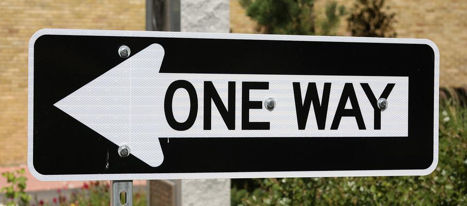 free photo: one way, traffic sign, direction - free image on
