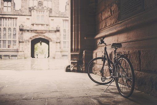 Bicycle, Bike, Urban, Grunge, Vintage