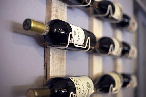 Wine Rack, Shelf, Wine, Beverages