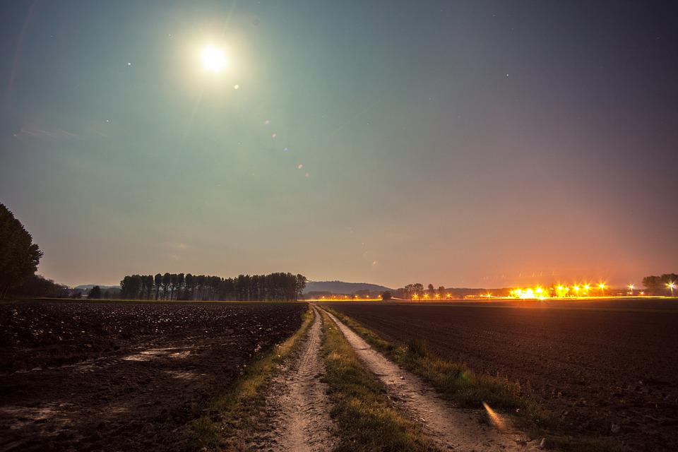 free photo moonlight countryside field free image on