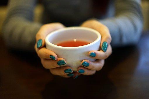 Chá, Copa, Xícara De Chá, Quente, Mãos