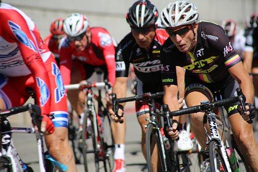 Rennräder, Fahrradrennen, Biker, Rennen