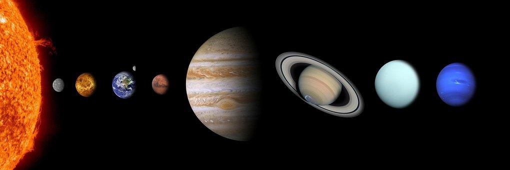 Solar System, Sun, Mercury, Venus, Earth
