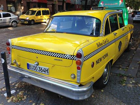 Nyc Taxi, Taxi, Berlin, Yellow Cab, Old