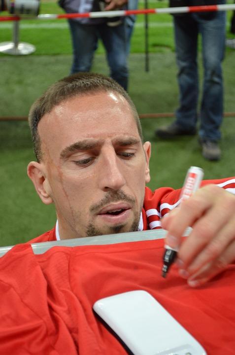 Ribery, Bayern Munich, Estrella, Fútbol, Autógrafo