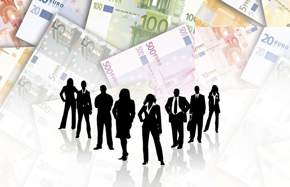free illustration team group woman finance euro