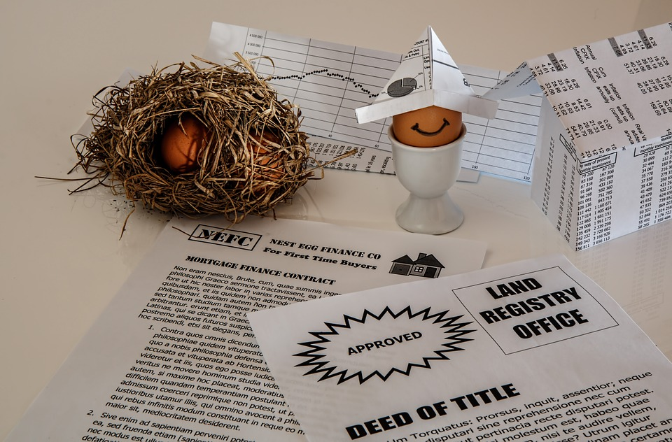 節約, 不動産, 住宅ローン債, 住宅ローン契約, 財務書類, 投資, 保存する, 巣卵, 家, ローン