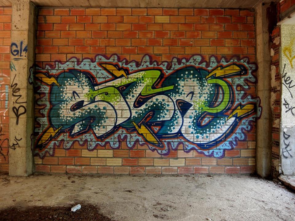 Foto gratis picha o parede tijolo imagem gratis no pixabay 441106 - Graffitis en paredes ...