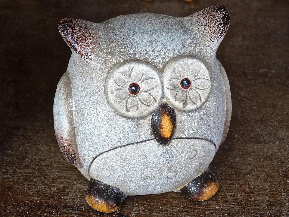 Owl Clay Figure Ceramic 183 Free Photo On Pixabay