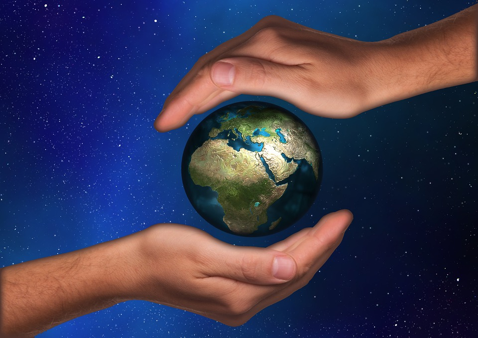 Protection, Protect, Hand, Handful Of, Earth, Globe