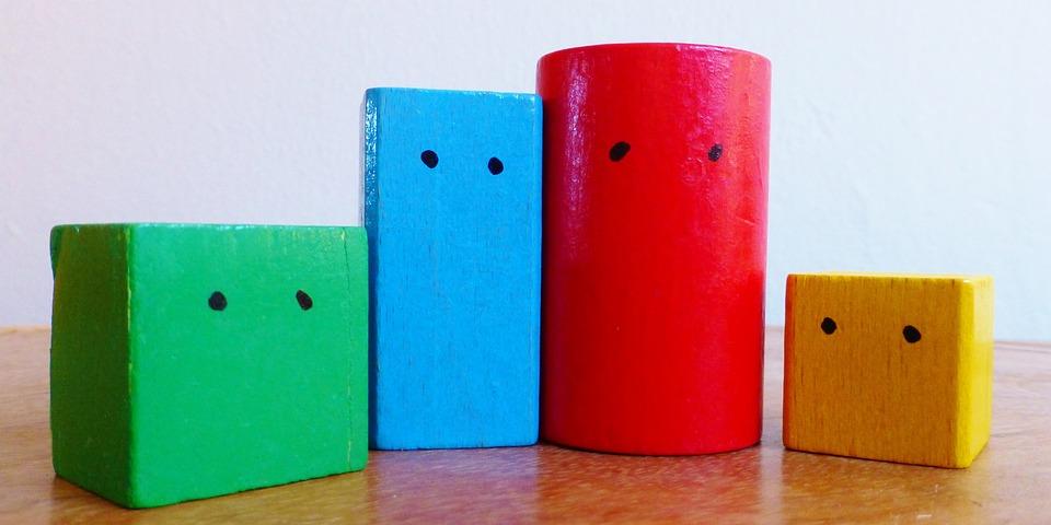 Drewniane Klocki, Kolorowy, Konsultacji, Rodzina, Grać