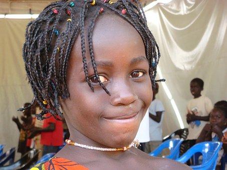 Černé africké dívky nahé