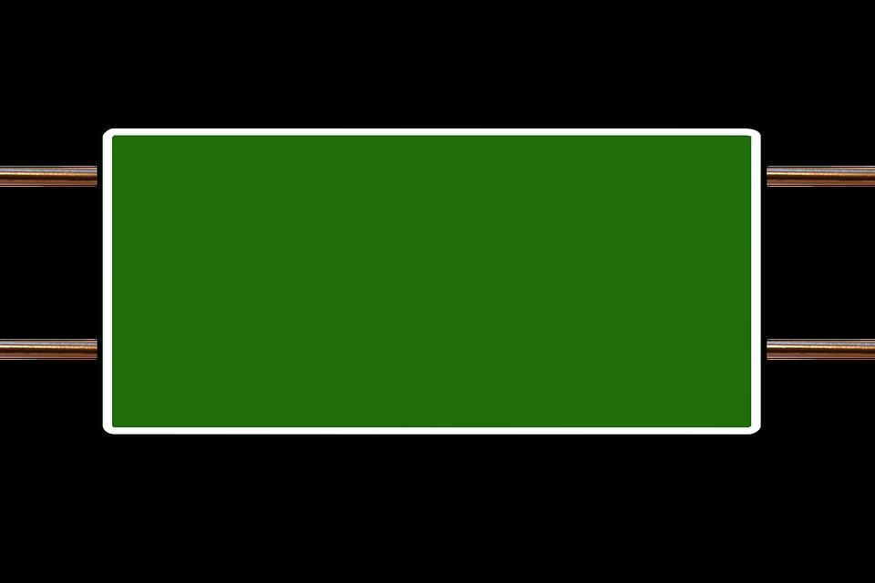 การจราจร แผงจราจร การอ้างอิง · ภาพฟรีบน Pixabay Green Road Sign Png