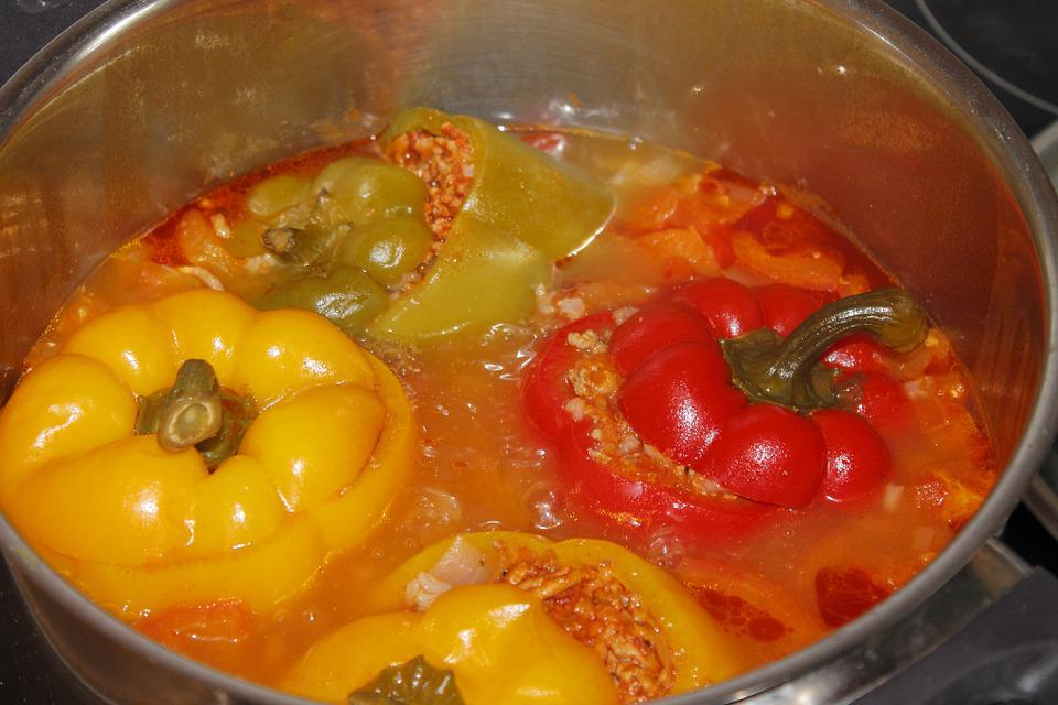 gevulde paprika koken