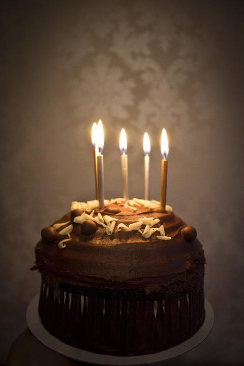 Chocolate Cake Images Birthday With Candles : Free photo: Cake, Candles, Birthday, Chocolate - Free ...