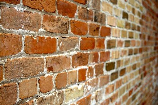 Wand Aus Ziegeln, Ziegel, Wand, Rot