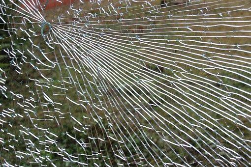 ガラス, ウィンドウ, 断片化しています, 割れた, ガラス破損, 壊れた