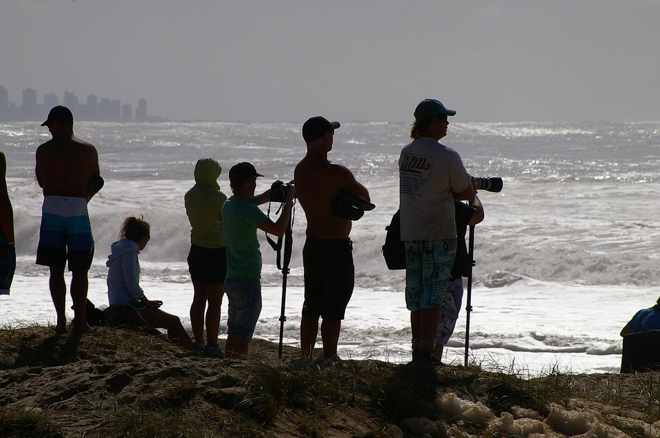 Foto Gratis Fotografer Siluet Gambar Pantai Laut Ocean
