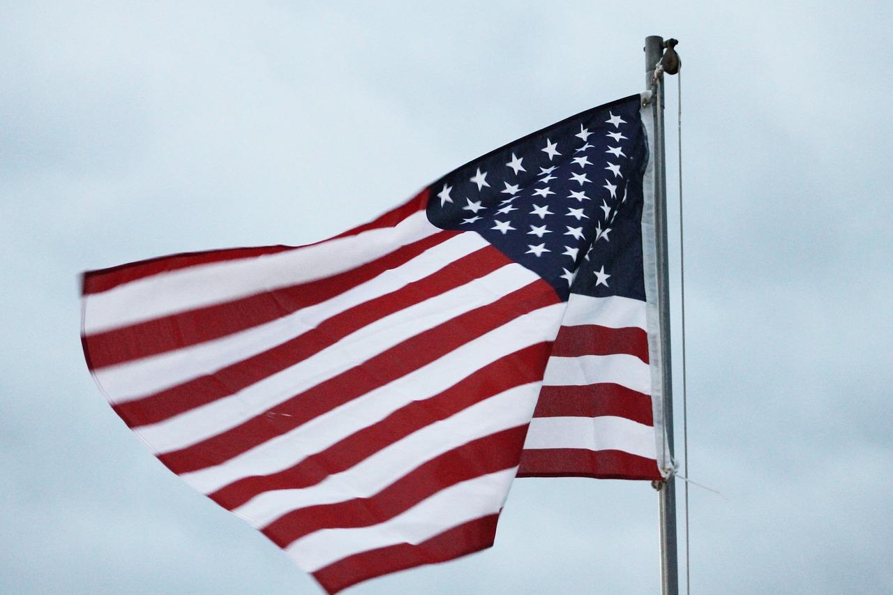 американский флаг фотографии романтический