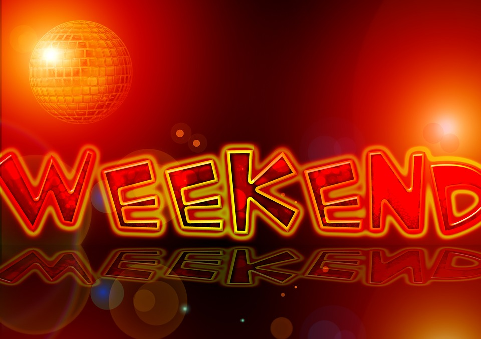 Weekend, Lettering, Font, Friday, Light, Party, Disco