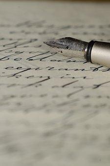 Penna Stilografica, Lettera, Grafia