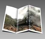 booklet, pamphlet, train