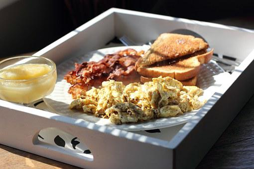 Rührei, Frühstück, Morgen, Lebensmittel