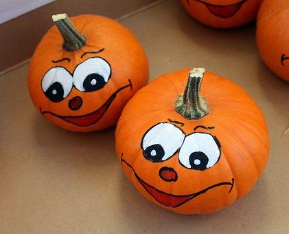 Pumpkin, Pumpkin Fruit, Face, Decoration