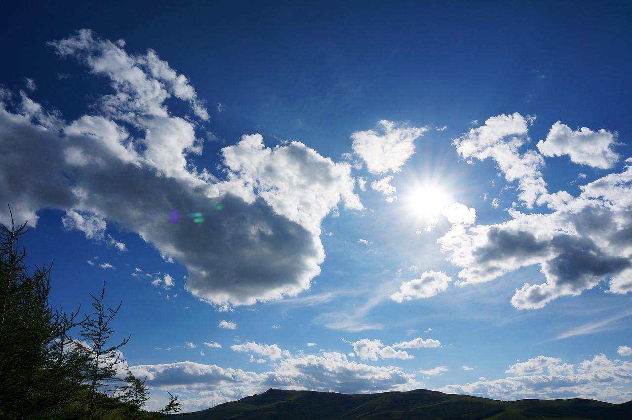 Голубое небо фото красивые