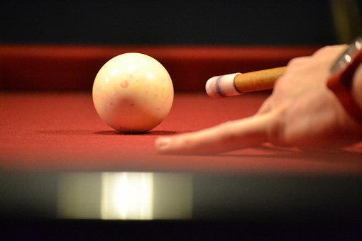 Billiards, Ball, Meeting, Queue