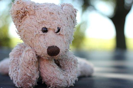 Teddybär, Stofftier, Kuschelig, Gefüllt