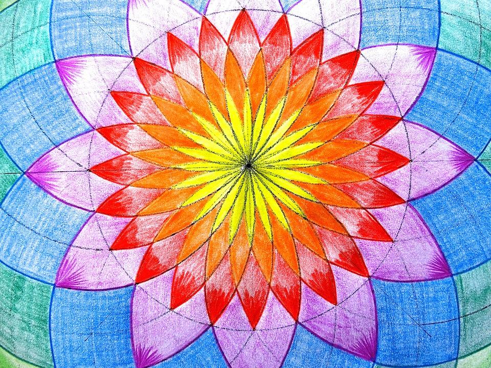 Illustration gratuite fleur image dessin couleur art - Dessin de fleur en couleur ...