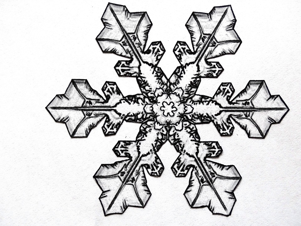 Pencil Drawing Snowflake Ice · Free image on Pixabay