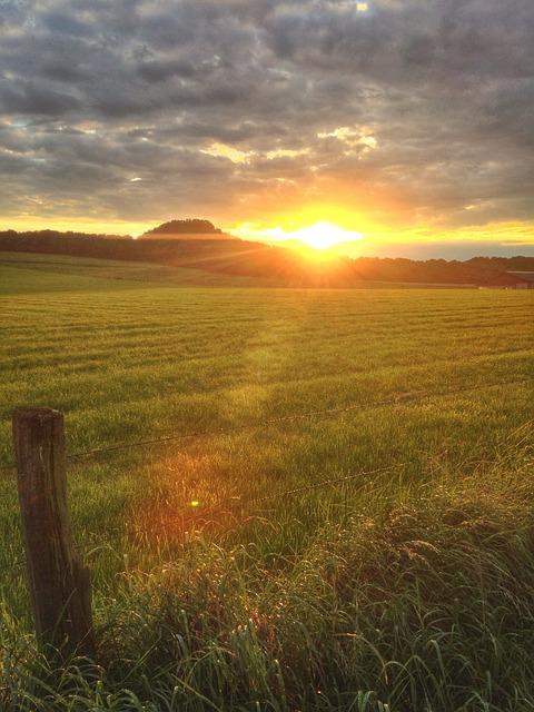 free photo sunset fields late summer summer free