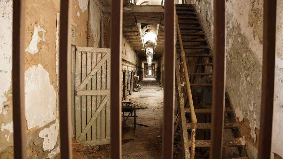 Free Photo Prison Ruin Bars Stairs Rust Free Image