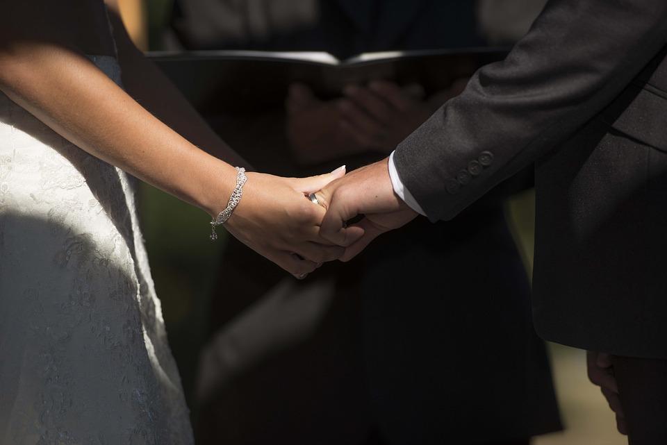 結婚, 接続, 所蔵の手, 一緒に, 愛, 関係, カップル, 人, 統一, 一体感