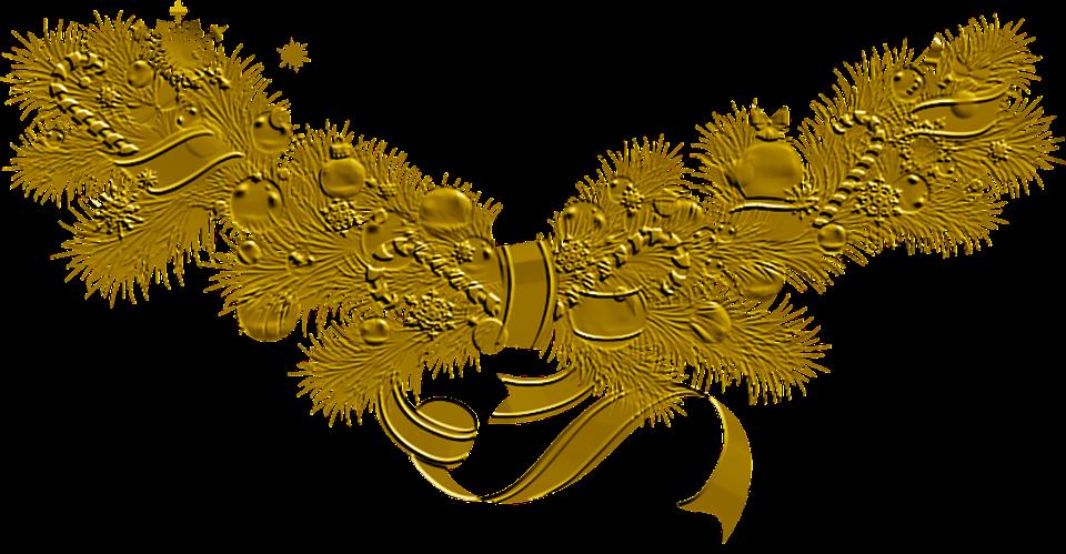 Ilustra o gratis dourado natal decora o imagem - Weihnachtskugeln transparent ...