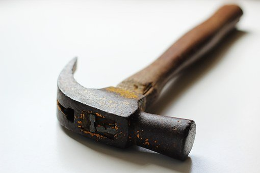 Hammer, White, Tool, Equipment, Repair