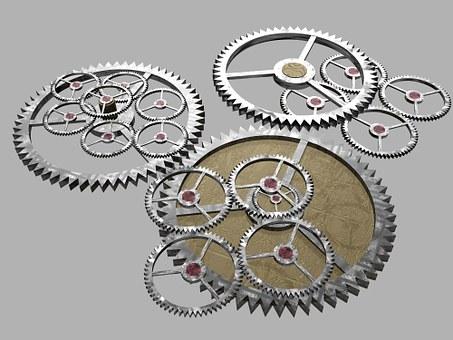 Cogs, Gears, Machine, Mechanical
