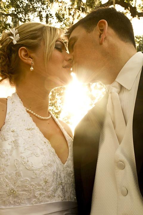 Novia, Novio, De La Boda, Matrimonio, El Amor, Beso