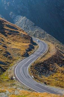 Serpentine, Alps, Mountain, Car, Road