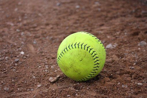 棒球, 垒球, 粘土, 球, 运动, 游戏, 联赛, Slo-Pitch, 娱乐