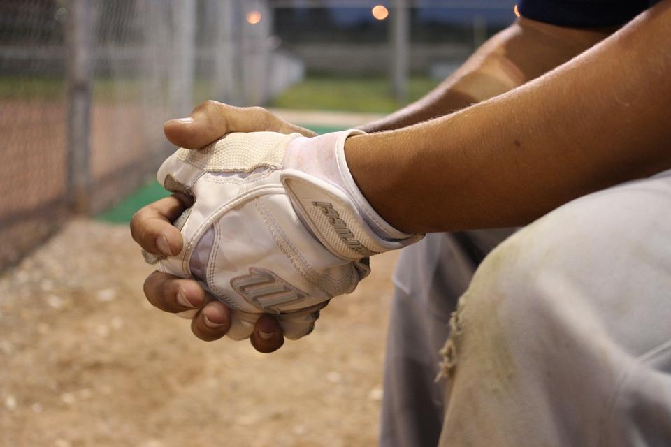 野球, 代替, ベンチ, 手, 手袋, フィールド, スポーツ, ソフトボール, Slo-Pitch
