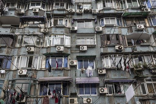 Buildings, Air Conditioning, China