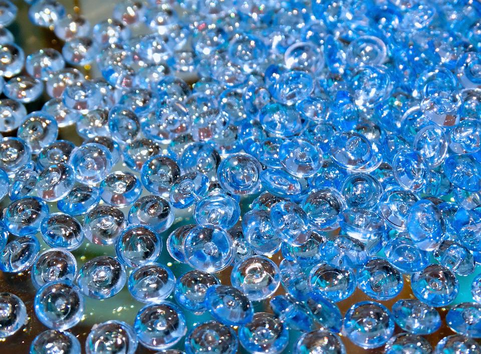 Glass Beads, Beads, Glass, Plastic, Glassy, Transparent