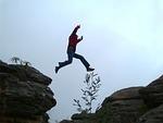 leap, jump, chasm