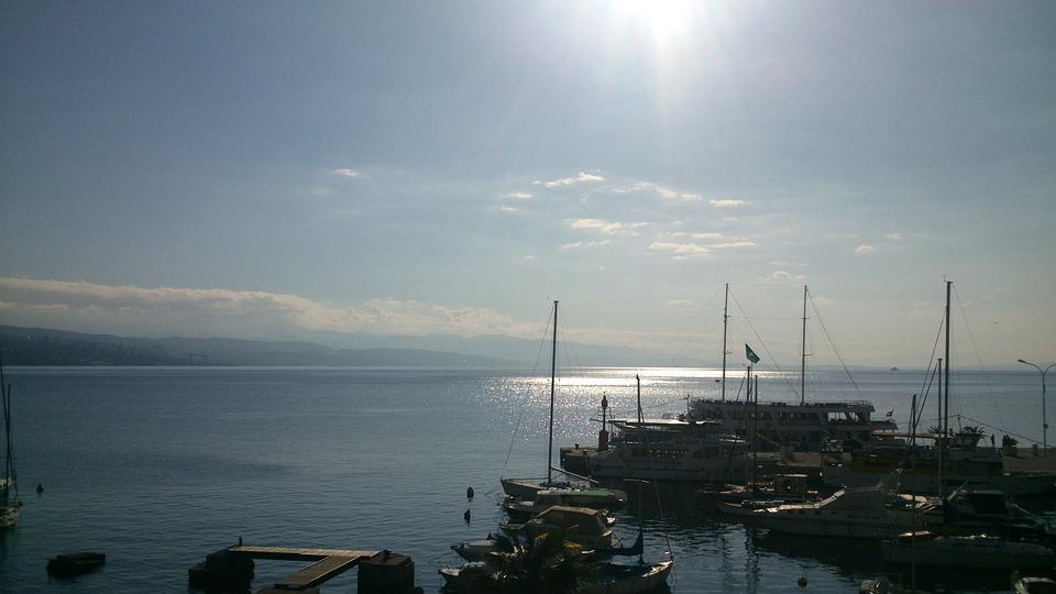 Opatija, Sea, Sun, Blue, Seaside, Mediterranean, Sky